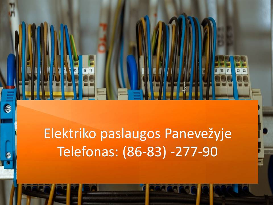 Elektriko paslaugos panevezyje 868327790