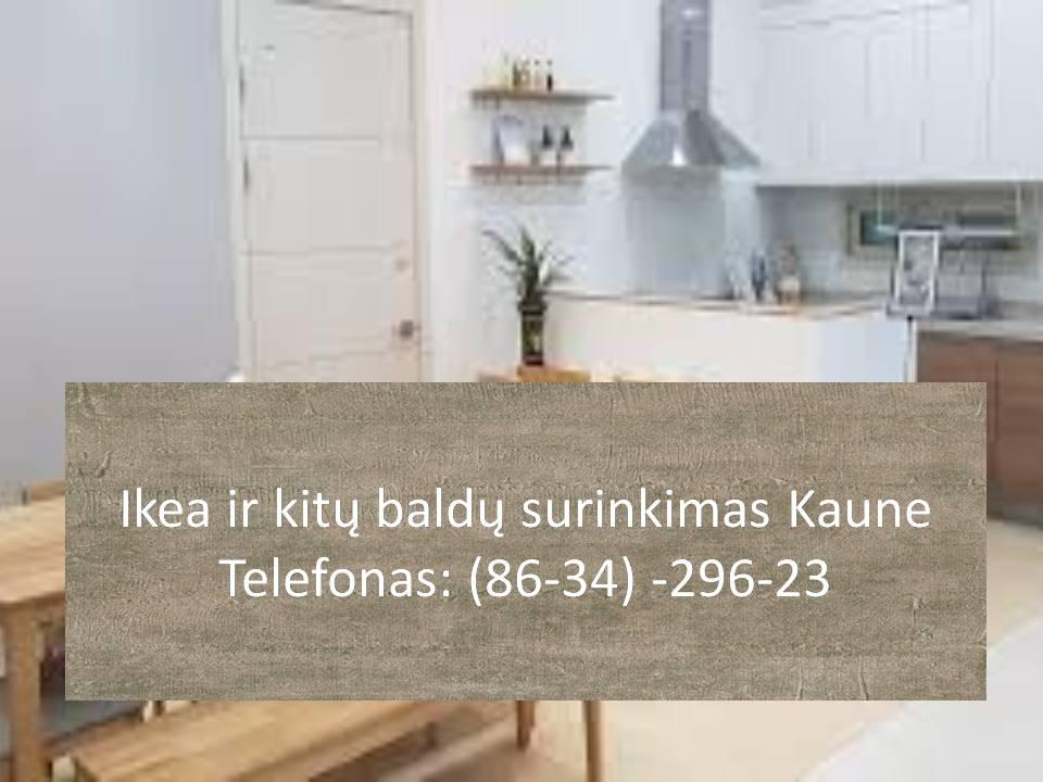 Ikea ir kitu baldu surinkimas Kaune  863429623