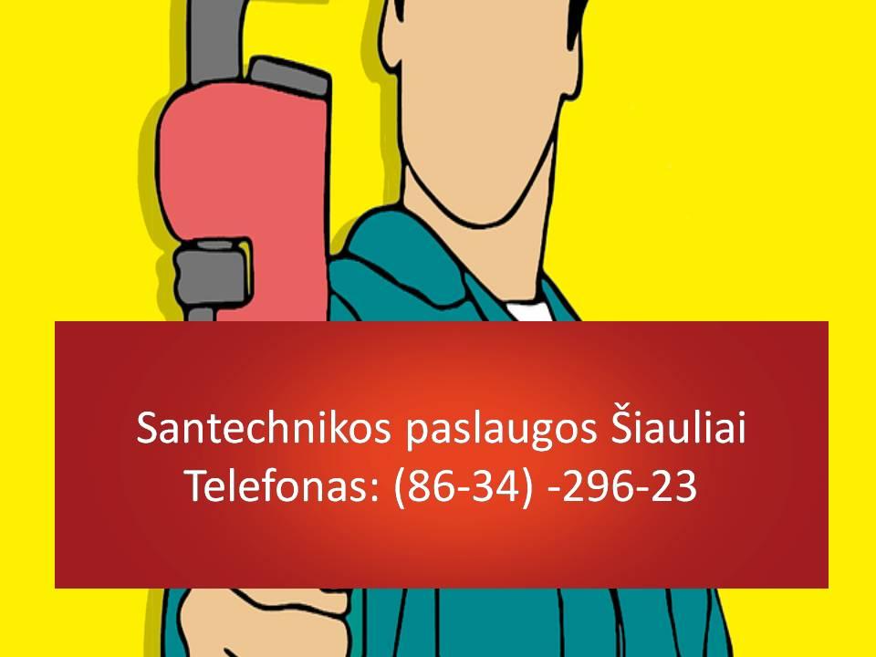 Santechnikos paslaugos Siauliai 863429623