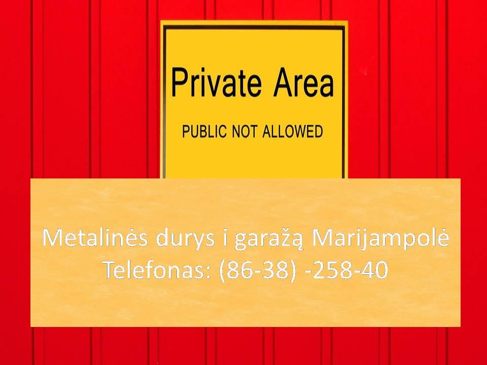 Metalines durys i garaza Marijampole 863825840