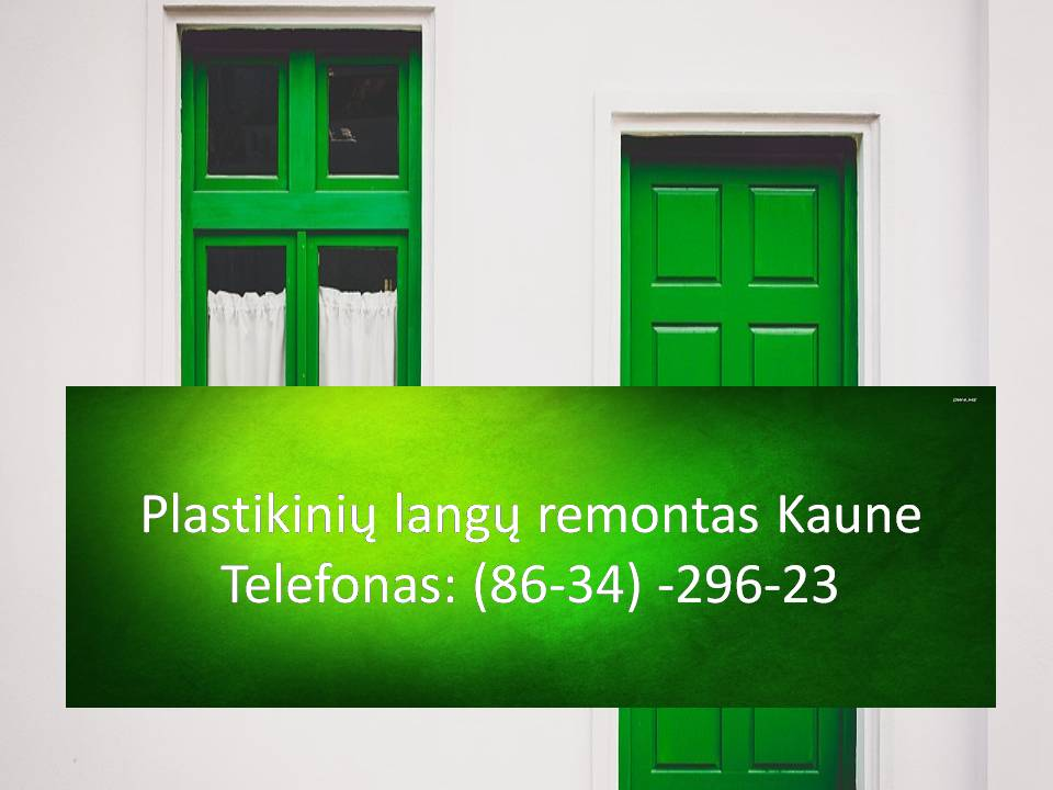 Plastikiniu langu remontas Kaune  863429623