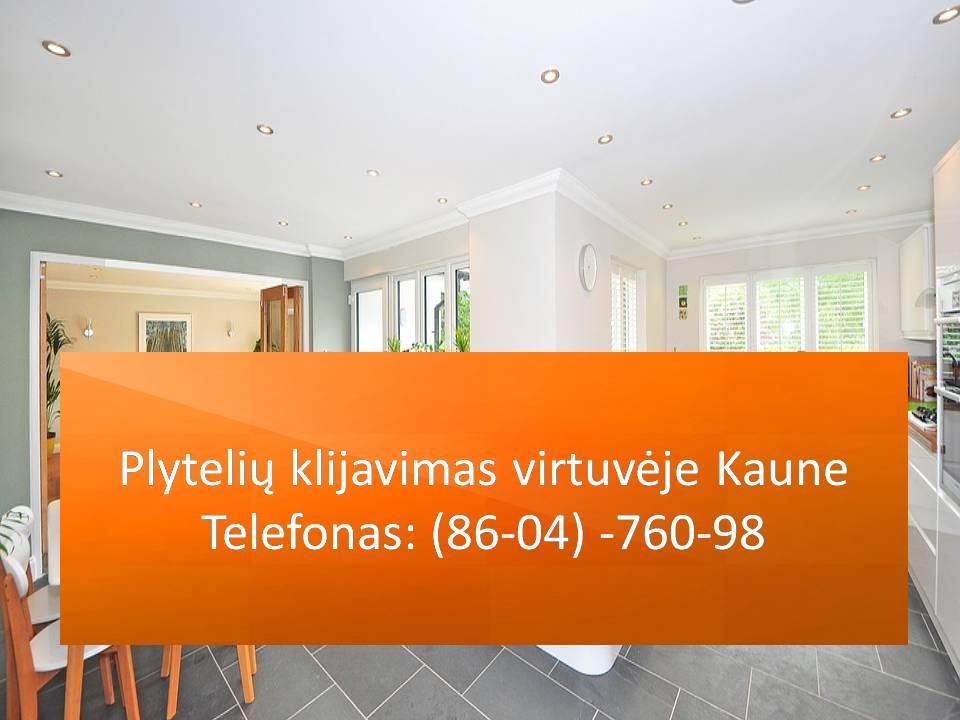 Plytelių klijavimas virtuvėje Kaune 860476098
