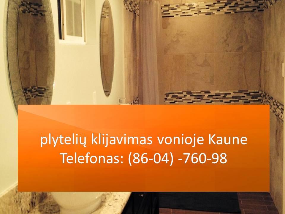 plytelių klijavimas vonioje Kaune 860476098