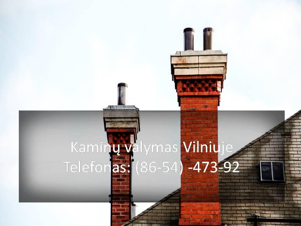 Mechaninis kaminų valymas pats seniausias ir  patikimiausias būdas išvalyti kaminą. Jei kaminas buvo neseniai valytas ir jame nėra daug apnašų, jas pašalinti galima kūrenant drebulines malkas. Labai svarbu prižiūrėti savo kaminą, tam, jog jam užsikimšus netektų žiemą šalti. Rekomenduotinos profilaktikos. Jeigu reikia kamino valymo Vilniuje arba aplink Vilnių prašom, skambinti. Taip pat atliekama kaminų profilaktika. Reikia kamino valymo ar profilaktikos? SKAMBINK JAU DABAR Kaminų valymas Vilniuje greitas atvykimas Kaminų valymas Vilniuje Kaina Kaminų valymas Vilniuje kainos  #KaminųvalymasVilniuje