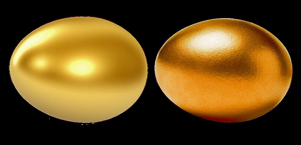 Auksinių 2020 metų Velykinių margučių pora Auksiukai