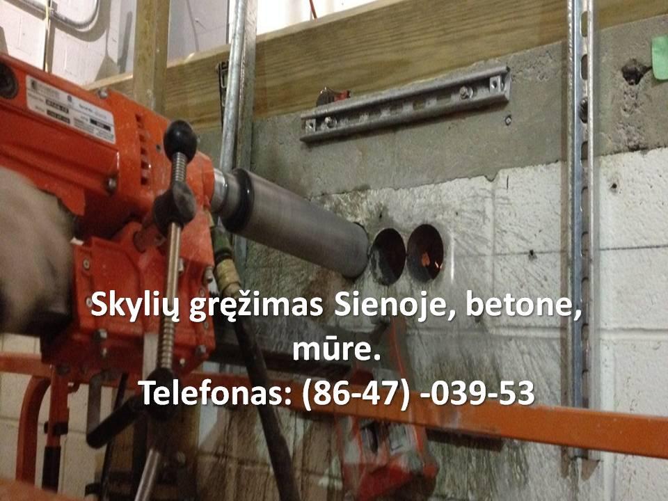 Skylių kiaurymių gręzimas. skylių kiaurymių grezimas deimantiniais cilindrais. per betoną,mūrą b.ei akmenį. Skyliu grezimas betone Vilnius greitas atvykimas Skyliu grezimas betone Vilnius Kaina Skyliu grezimas betone Vilnius kainos  #SkyliugrezimasbetoneVilnius