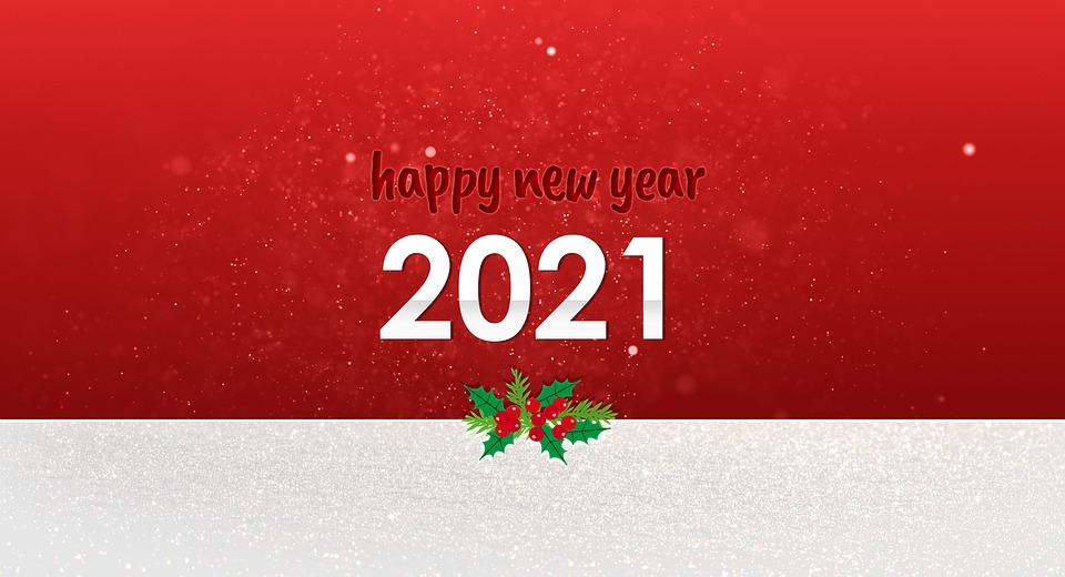 Sveikinimai su naujaisiais 2021 metais