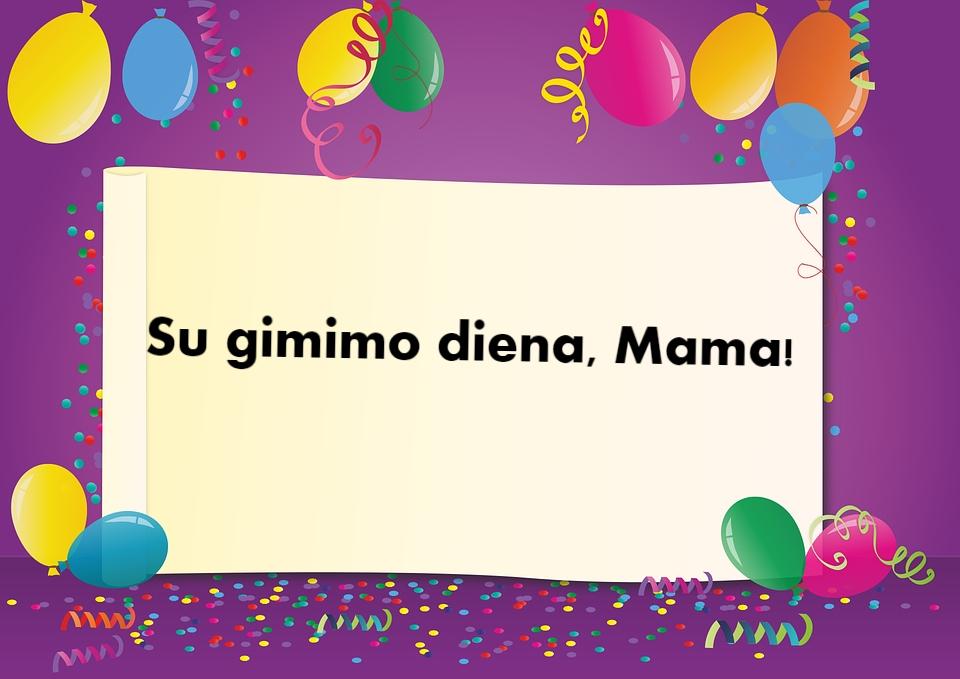 gimimo dienos sveikinimai mamai