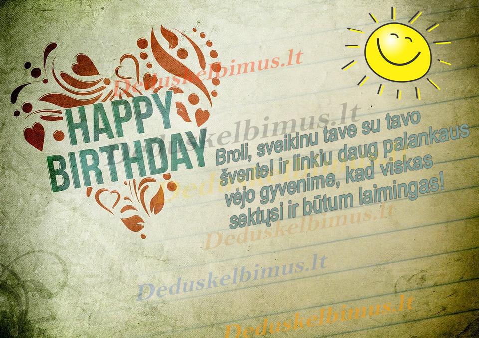 Gimimo dienos sveikinimai broliui Su gimimo diena II
