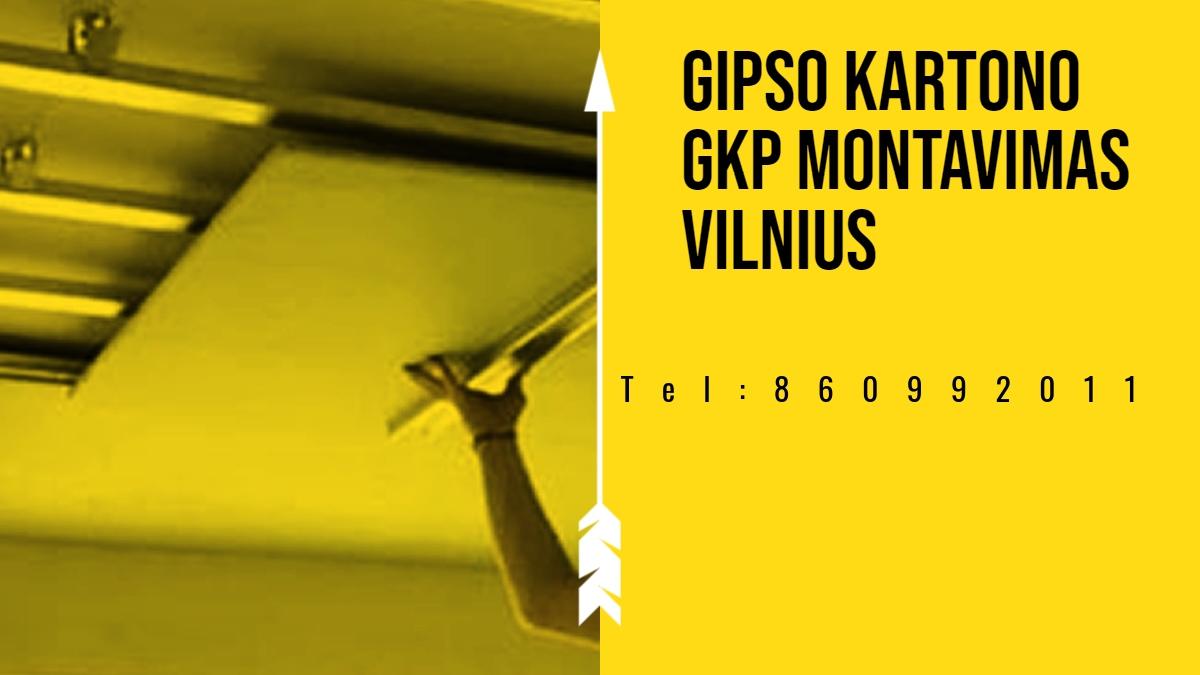 Gipso kartono GKP montavimas Vilnius.jpg